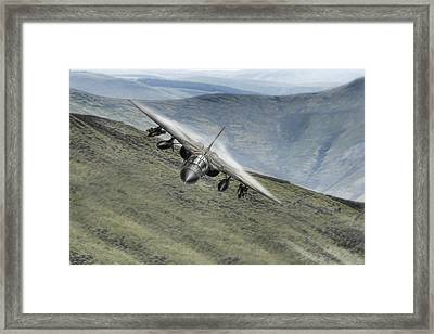 Thunderous Pig Framed Print by Peter Chilelli