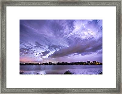Thunderstorm Combustion  Framed Print by James BO  Insogna