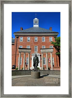 Thurgood Marshall Memorial Framed Print by Olivier Le Queinec