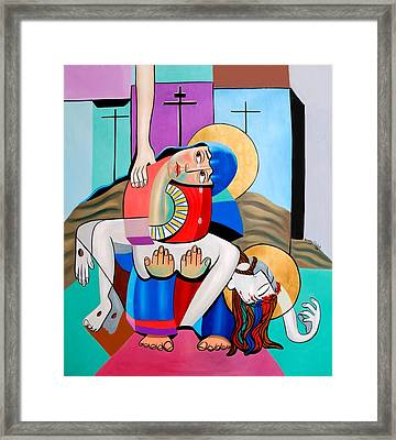 Thy Will Be Done  Framed Print by Anthony Falbo