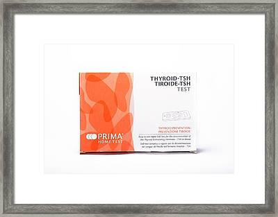 Thyroid Function Home Test Kit Framed Print by Cordelia Molloy