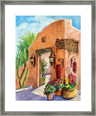 Tia Rosa Time Framed Print by Marilyn Smith