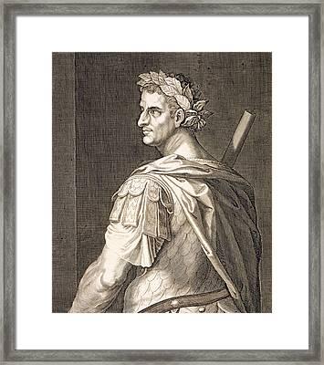 Tiberius Caesar Framed Print by Titian
