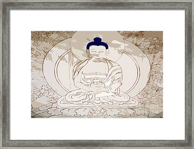 Tibet Buddha Framed Print by Kate McKenna