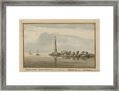 Tiby Lighthouse Framed Print by British Library