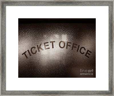 Ticket Office Window Framed Print by Olivier Le Queinec