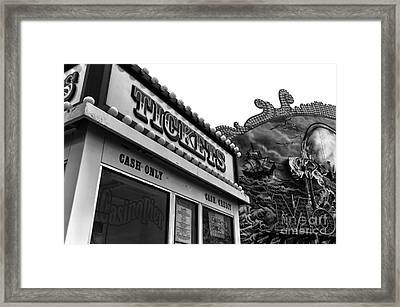 Tickets Mono Framed Print by John Rizzuto