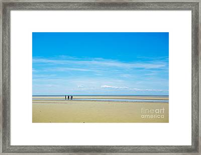 Tidal Flats Of Cape Cod Framed Print by Diane Diederich