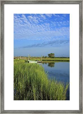 Tidal Marsh Wrightsville Beach Framed Print by Michael Weeks