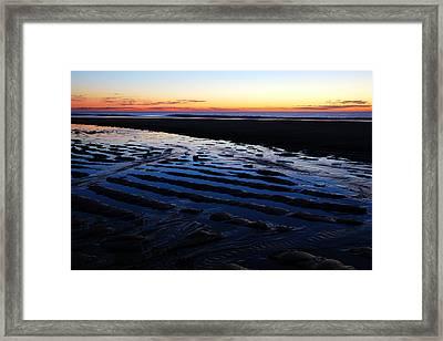 Tidal Ripples At Sunrise Framed Print by James Kirkikis