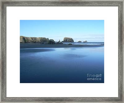 Tide Is Out Framed Print by Dona  Dugay