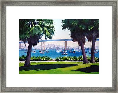 Tide Lands Park Coronado Framed Print by Mary Helmreich