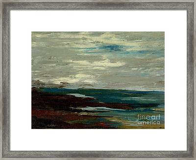 Tide Pools At The Rincon Seashore  Framed Print by Cathy Peterson