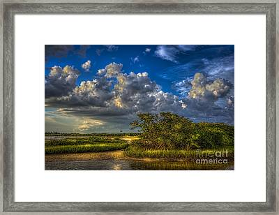 Tide Water Framed Print by Marvin Spates