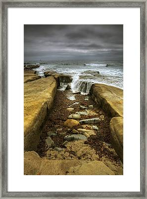 Tidepool Falls Framed Print by Peter Tellone
