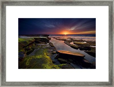 Tidepool Sunsets Framed Print by Peter Tellone