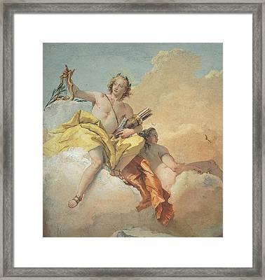 Tiepolo Giambattista, Apollo And Diana Framed Print by Everett