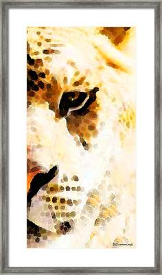 Tiger Art - Pride Framed Print by Sharon Cummings