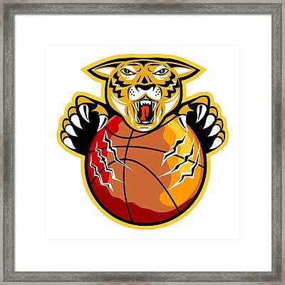 Tiger Basketball Ball Claws Framed Print by Aloysius Patrimonio