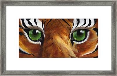 Tiger Eyes Framed Print by Donna Tucker