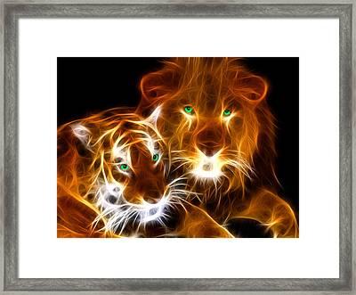 Tiger Lion  Framed Print by Mark Ashkenazi