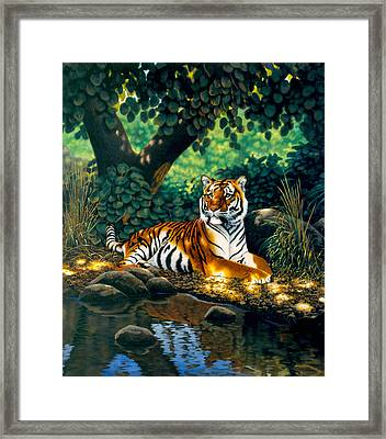 Tiger Framed Print by MGL Studio - Chris Hiett