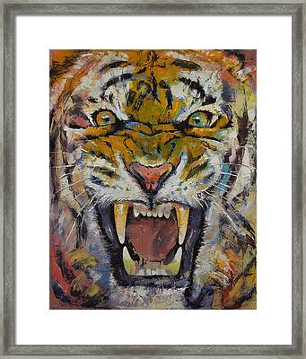 Tiger Framed Print by Michael Creese