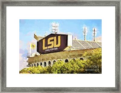 Tiger Stadium Framed Print by Scott Pellegrin