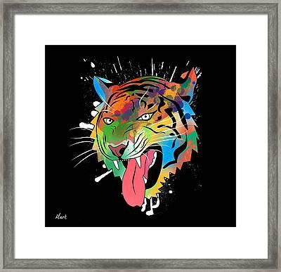 Tiger Vector  Framed Print by Mark Ashkenazi