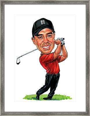 Tiger Woods Framed Print by Art