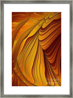 Tiger's Eye Abstract Framed Print by John Edwards