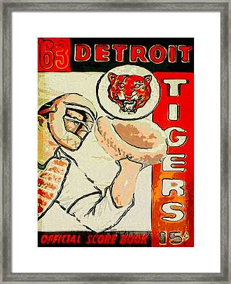Tigers Score Book Framed Print by John Farr