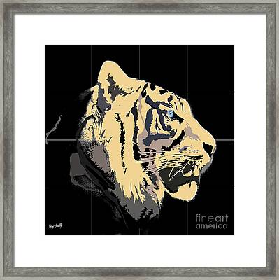 Tigre De Bengal Framed Print by Roby Marelly