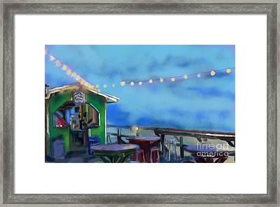 Tiki Bar Framed Print by Carrie Joy Byrnes