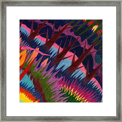 Tile 37 - These Woods Are Lovely Framed Print by Sean Corcoran