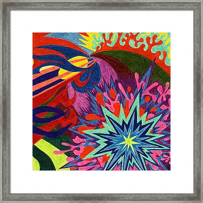 Tile 46 - Look At The Flowers Framed Print by Sean Corcoran