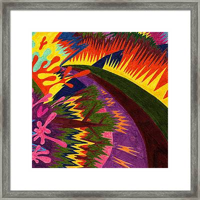 Tile 47 - Sunset Over Mountains Framed Print by Sean Corcoran