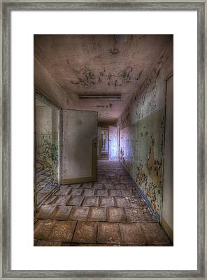 Tile Corridor  Framed Print by Nathan Wright