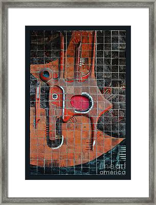 Tile Cubism - Spain Framed Print by Mary Machare