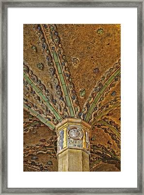 Tile Work Framed Print by Susan Candelario