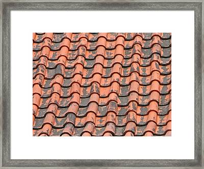 Tiled Lines Framed Print by Pete Marchetto