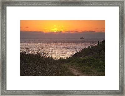 Tillamook Rock Lighthouse Framed Print by Andrew Soundarajan