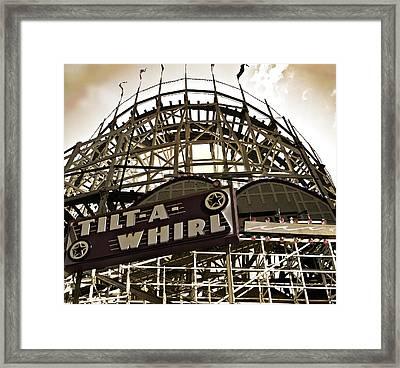 Tilt-a-whirl Framed Print by Larry Butterworth