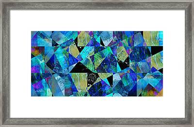 Tilt In Blue - Abstract - Art Framed Print by Ann Powell