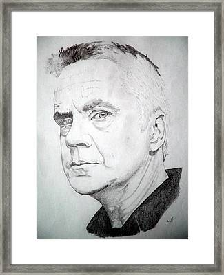 Tim Robbins Framed Print by Robert Lance