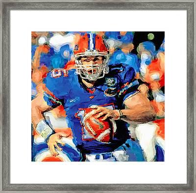 Tim Tebow Mr. Florida Gator Framed Print by John Farr