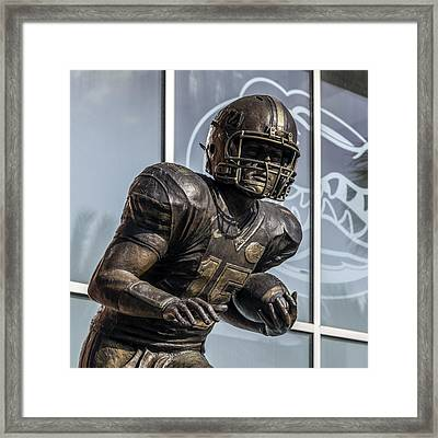 Tim Tebow Uf Heisman Winner Framed Print by Lynn Palmer