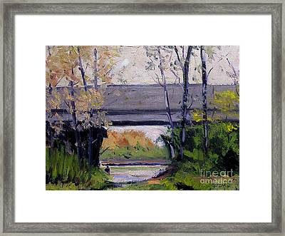 Tim Under The Bridge Framed Print by Charlie Spear