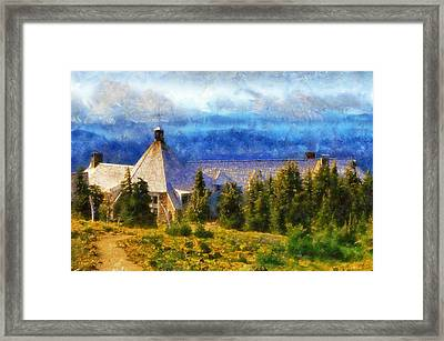 Timberline Lodge Framed Print by Kaylee Mason