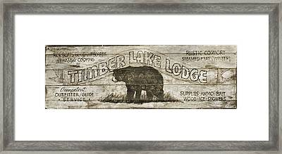 Timber Lake Lodge Framed Print by Dan Sproul